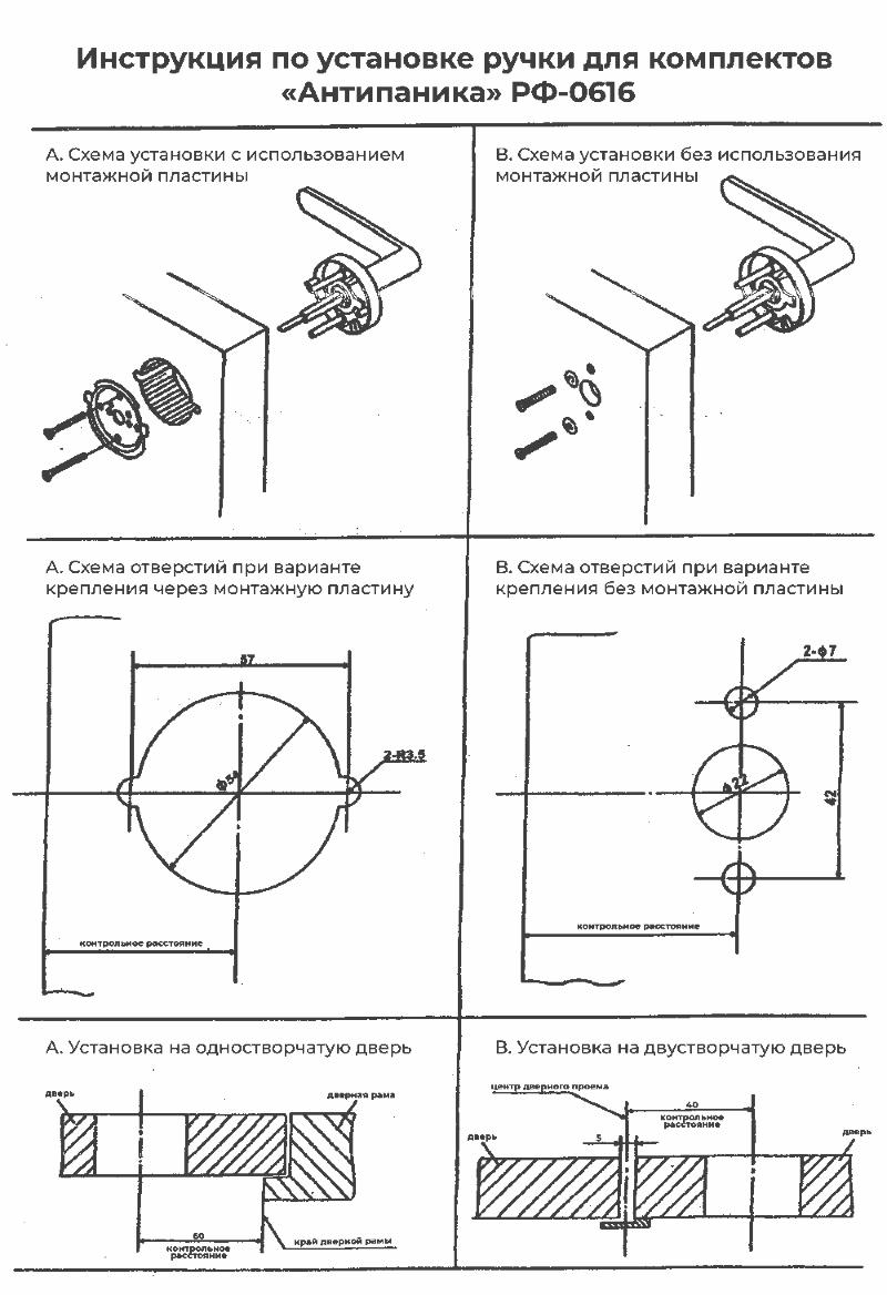 Инструкция по установке ручки для системы
