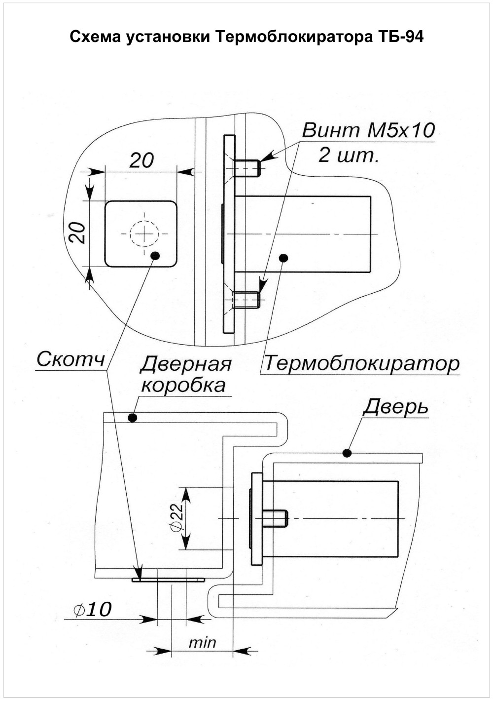 Паспорт для термоблокиратор
